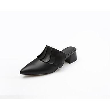 Chaussures 06791473 Noir Mules Cuir Blanc Eté amp; Sabot Confort Nappa Escarpin Basique Printemps Femme Talon Bottier dCx6aZwqd