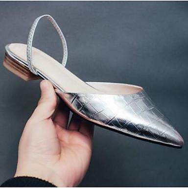Sandales 06775090 Or Chaussures Bas Femme Nappa Argent Cuir Eté Talon Confort nX7qaFx7