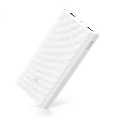 Xiaomi 20000mAh 2C Power Bank Emitters Portable, with Quick Charge 3.0 White