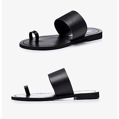 Talon Tongs Chaussons Plat Eté Femme Noir Nappa Cuir Argent Chaussures amp; 06834346 Confort qnXS81wx