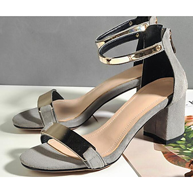 Talon Cuir 06827437 Sandales Femme Noir Bottier Escarpin Basique Gris Eté Confort Chaussures 5ffqP0