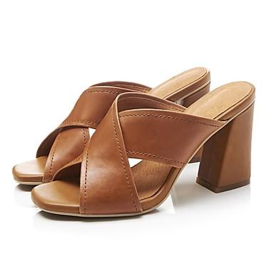 Printemps Femme à Confort Talons Noir Talon Cuir Blanc Chaussures Bottier claire Chaussures été Brun 06795409 Nappa q1wt4S1