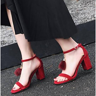 Printemps Daim Femme Noir 06778000 Bottier Sandales Talon Rouge Chaussures Confort fCxxHw