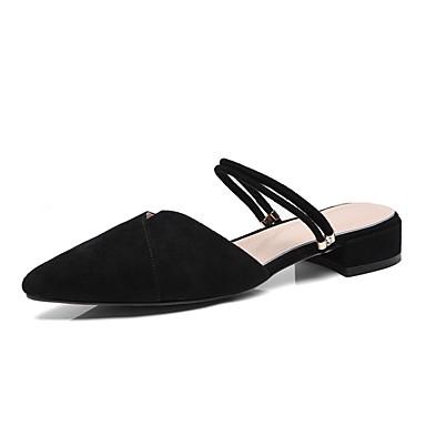 Mules Rose Daim Printemps Amande amp; Sabot Bottier Noir été Talon 06811105 Chaussures Confort Femme EP5xHq05A
