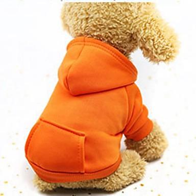 Χαμηλού Κόστους Ρούχα για σκύλους-Σκυλιά Γάτες Κατοικίδια Φούτερ με Κουκούλα Πουλόβερ Σύνολα Ρούχα για σκύλους Μονόχρωμο Καφέ Κόκκινο Ροζ Βαμβάκι Στολές Για Χάσκυ Λαμπραντόρ Μάλαμουτ Αλάσκας Όλες οι εποχές Γυναίκα