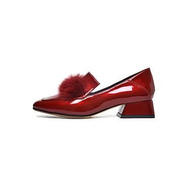Femme Chaussures Cuir Verni Confort Printemps été Confort Verni Chaussures à Talons Talon Bottier Noir / Vin 7c5721