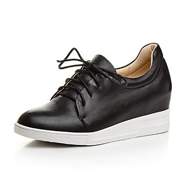 Printemps de Basket été Noir compensée Nappa Cuir semelle 06778656 rond Chaussures Hauteur Bout Blanc Confort Femme FBWwq8tcpI