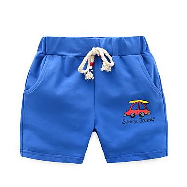 baratos Calças para Meninos-Bébé Para Meninos Básico Diário Estampado Shorts Verde