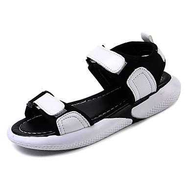 Žene Cipele PU Ljeto Udobne cipele Sandale Ravna potpetica Okrugli Toe Obala / Pink