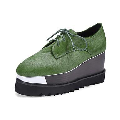 Vin Vert de Femme Crin Noir 06832609 Creepers Printemps Basket Cheval été Chaussures Confort PEEpqgv