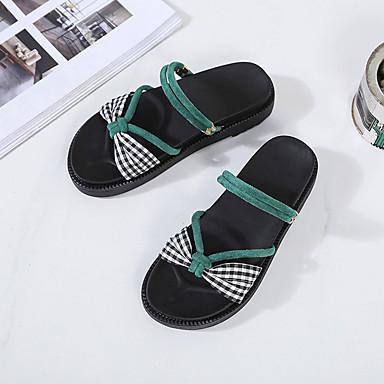Verde Talón PU Sandalias plataforma 06856522 Zapatos Verano Media Mujer Negro Descubierto gzZqx