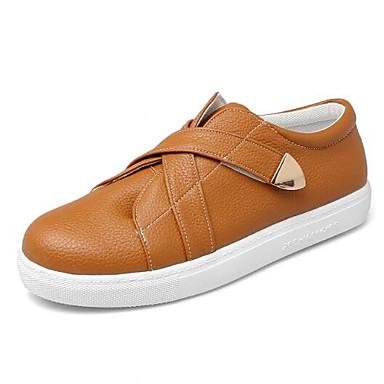 Women's Shoes PU(Polyurethane) Spring / Heel Summer Comfort Sneakers Flat Heel / Closed Toe White / Black / Yellow af5920
