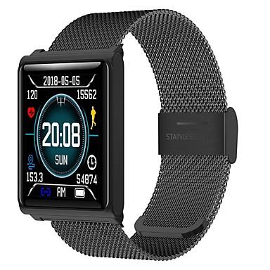 olcso Aktivitásmérő pántok, csíptetők, karkötők-KUPENG N98 Férfi Intelligens karkötő Android iOS Bluetooth Sportok Vízálló Szívritmus monitorizálás Vérnyomásmérés Érintőképernyő Lépésszámláló Hívás emlékeztető Testmozgásfigyelő Alvás nyomkövet