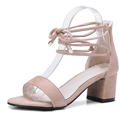 Blanco 06849933 Negro Tacón Confort Ante Mujer Almendra Zapatos Verano Sandalias Cuadrado w7xT0R