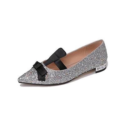 Matière Talon Plat Noir Chaussures Argent 06843361 Femme Confort synthétique Printemps Ballerines 5wB8xY08