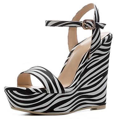 semelle Polyuréthane Hauteur Confort Chaussures Printemps compensée blanc 06841475 Femme de été Sandales Noir 61wx48