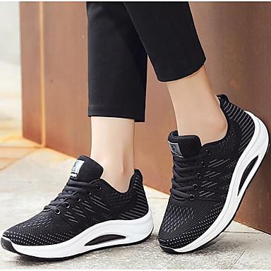 Printemps Swing Marche Chaussures Confort Noir Talon Rouge Femme Tricot 06854947 Plat de d'Athlétisme Noir Chaussures Blanc Chaussures YOpqpz0Ew