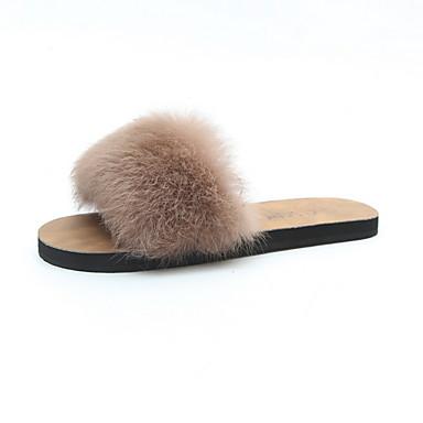 povoljno Tekstil za dom-Ženske papuče Kuća Papuče Običan Baršun Jedna boja Cipele