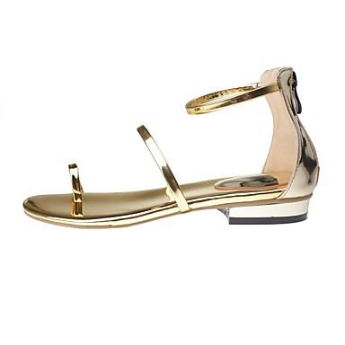 06856201 Sandales Confort Femme Plat été Printemps Chaussures Talon Polyuréthane Or w6wTqaZzP