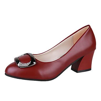Beige 06857333 Pump Zapatos PU Wine redondo Tacones Tacón Otoño Dedo Negro Cuadrado Mujer Básico OUfwaPqx