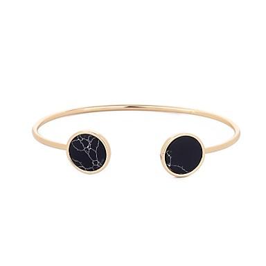 voordelige Armband-Dames Obsidiaan Stijlvol Rolo Cuff armbanden Vintage Armbanden Bal Dames Natuur Hip-hop Het oude Griekenland Armbanden Sieraden Goud Voor Carnaval Maskerade