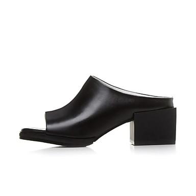 Printemps été Heel Nappa 06843145 Cuir Chaussures Noir Blanc Block Sandales Femme Confort Uwqgtn