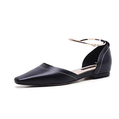 Nappa Cuir Beige Confort Ballerines Femme 06857118 Plat Noir Talon Eté Chaussures 5zgnwSE