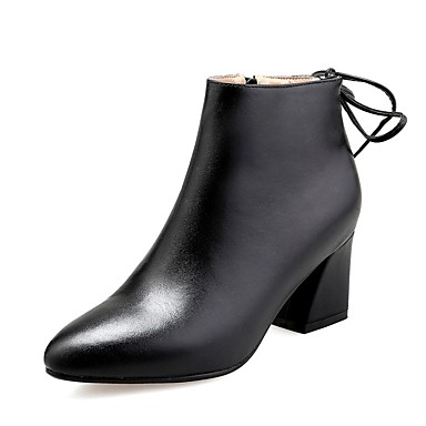 Confort Bottes Talon Femme Chaussures Cuir 06849786 hiver Bottier Automne Nappa Noir BnWXgWUq