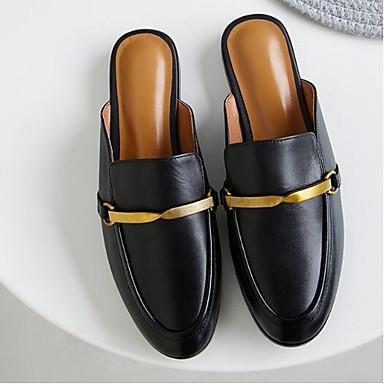 Sabot Talon fermé Bout Printemps Noir Confort Chaussures 06841647 amp; Nappa Cuir Eté Plat Mules Femme Marron nYAxCzp