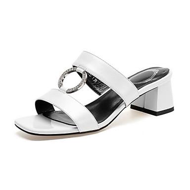 Bottier Talon Noir Cuir Sandales Eté 06862582 Confort Nappa Femme Blanc Chaussures wRUWqx0nP