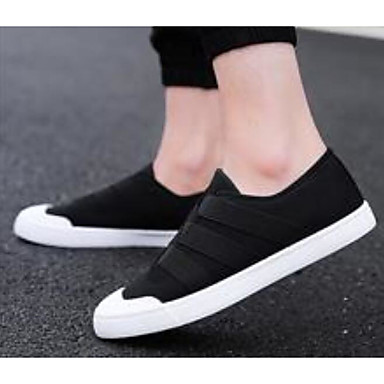 Men's Comfort Shoes Canvas Loafers Spring &  Fall Loafers Canvas & Slip-Ons Black / Red / Green c9f7b6