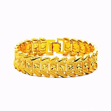 abordables Bracelet-Bracelets Vintage Large bracelet Femme Tendance Sculpture Forme de Feuille Flower Shape dames Elégant Luxe Classique Italien Bracelet Bijoux Dorée Forme de Cercle pour Plein Air Festival