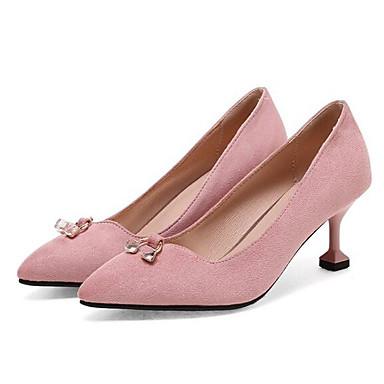 Ante Negro Rosa Caqui Stiletto Tacón Mujer Confort Zapatos Tacones 06848128 Primavera ax6FUy