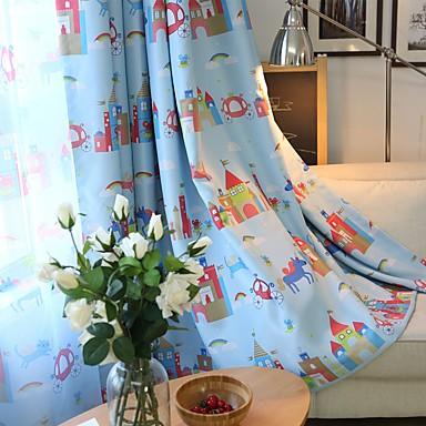 sur mesure occultant rideaux occultants rideaux deux panneaux personnalis e bleu chambre d. Black Bedroom Furniture Sets. Home Design Ideas