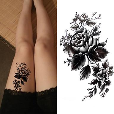 povoljno Ljepota i kosa-3 pcs Tetovaže naljepnice Privremene tetovaže Flower Serija / Romantična serija Eco-friendly / New Design Body Arts Tijelo / ruka / Prsa / Privremene tetovaže u dekalima / Tattoo Sticker