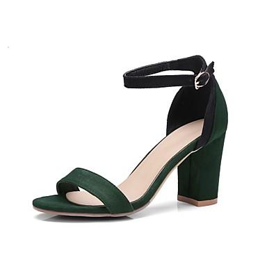 Jaune été 06848718 Noir Confort Bottier Printemps Sandales Chaussures Vert Daim Femme Talon OZwqzFnZ