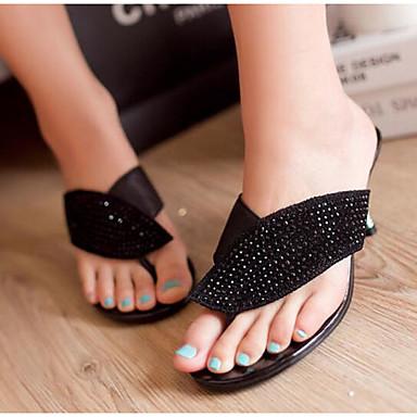 Chaussons Femme Tongs Noir Rouge Nappa Aiguille Amande Talon amp; 06841038 Eté Chaussures Cuir Confort RvHURX
