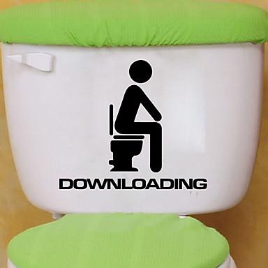 povoljno Zidne naljepnice-Naljepnice za WC - Naljepnice za zidne zidove Životinje Stambeni prostor / Spavaća soba / Kupaonica