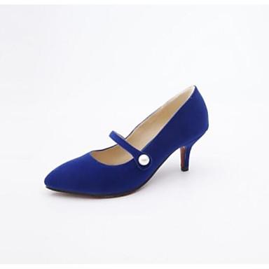 Stiletto Pump Primavera Azul 06863533 Tacón Zapatos Tacones Mujer Negro Ante Rojo Básico Hwatq0
