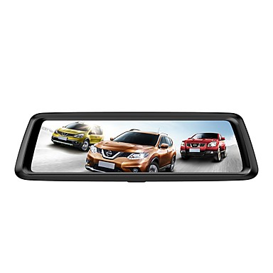 billige Bil-DVR-Factory OEM 1080p HD / Nattsyn Bil DVR 170 grader Bred vinkel 12 MP 9.7 tommers IPS Dash Cam med Loop-opptak / Loop-cycle Recording Nei Bilopptaker