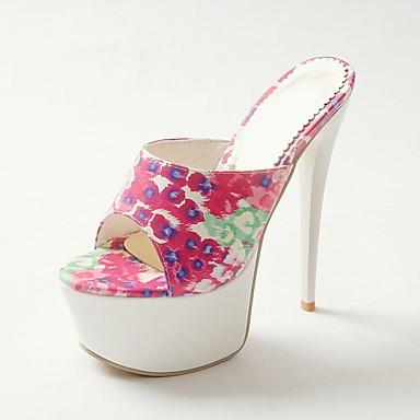 Printemps Jaune Aiguille 06858636 Sandales Femme Polyuréthane Chaussures Confort Talon Vert été Rouge qnxEETHCWw