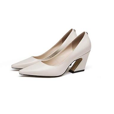 Noir Printemps Chaussures Talons Confort hétérotypique Cuir Femme 06856736 Chaussures Talon à Blanc Nappa BqwSRxUxp