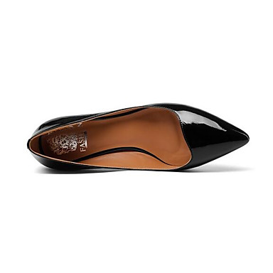 06857113 Nappa Cuir Jaune Noir Talons Talon Aiguille Chaussures à Femme Printemps Confort Chaussures 7OCxwEEqA