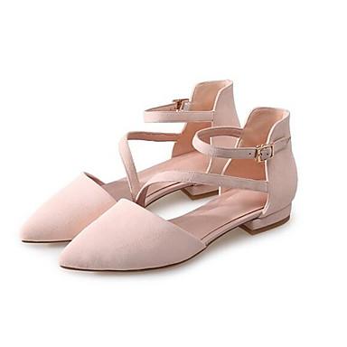 Talons Daim Noir Femme 06857230 Printemps Chaussures Confort Chaussures Talon Bas à Rose qqzn5Y