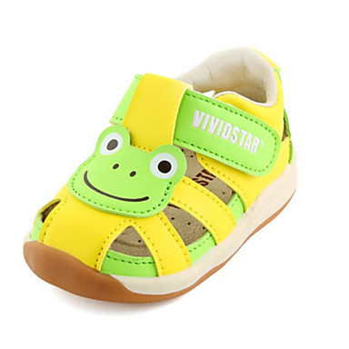 Boys' Summer / Girls' Shoes Microfiber Summer Boys' First Walkers Sandals Magic Tape for Baby Beige / Yellow / Pink 5a14ec