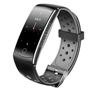 Indear Q8S Pulseira inteligente Android iOS Bluetooth Impermeável Monitor de Batimento Cardíaco Medição de Pressão Sanguínea Tela de toque Temporizador Podômetro Aviso de Chamada Monitor de Atividade