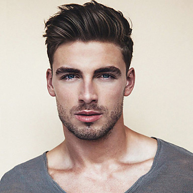 cheap Toupees-Men's Human Hair Toupees Straight Monofilament / 100% Hand Tied Soft
