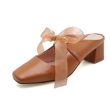 Confort 06849149 Marron Basique Bottier Printemps Nappa Talon Escarpin Vin Femme Cuir Mules Chaussures Amande Sabot amp; wWqZUfqI