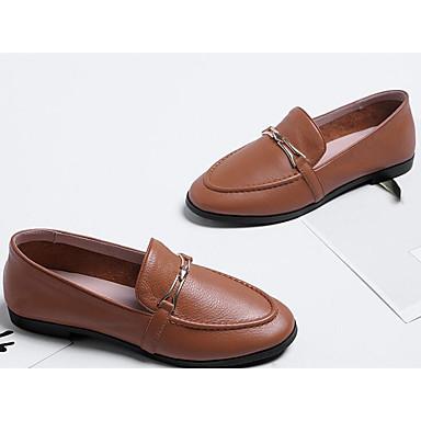 Automne Marron Mocassins Chaussures Nappa et Noir Talon Cuir Printemps 06841744 amp; Blanc D6148 Femme Plat Chaussons Confort FXwCZqwn