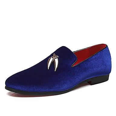 abordables Meilleures Ventes-Homme Chaussures habillées Daim Printemps / Automne British Mocassins et Chaussons+D6148 Noir / Rouge / Bleu / Soirée & Evénement / Soirée & Evénement